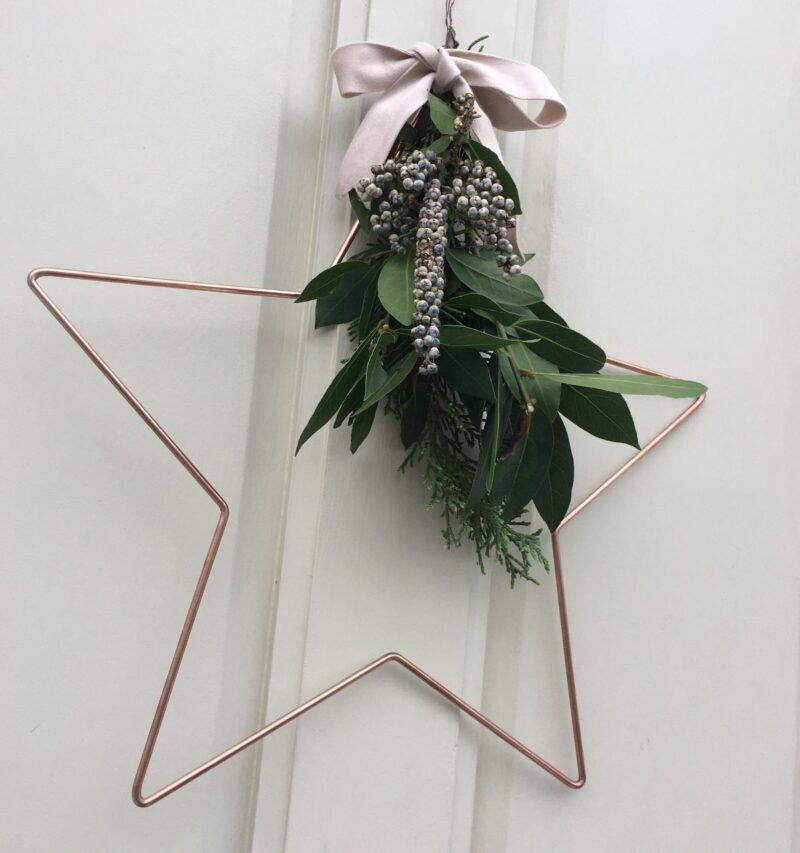 Star Christmas Wreath Kit